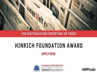 Hinrich Foundation, Trade reporting award