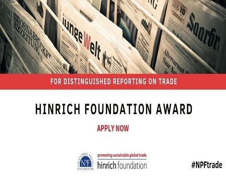 Hinrich Foundation, Trade reporting award