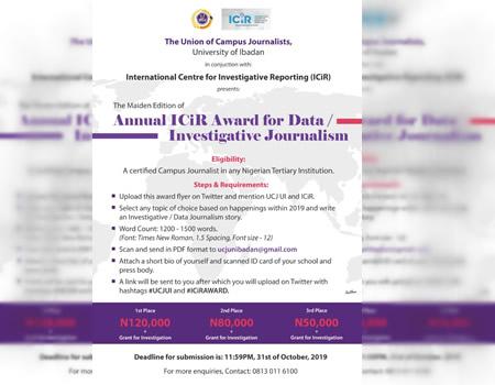 ICIR-UCJUI investigative journalism, data journalism