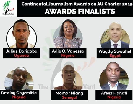 AU Charter, Continental Journalism Awards on AU charter, WAMECA