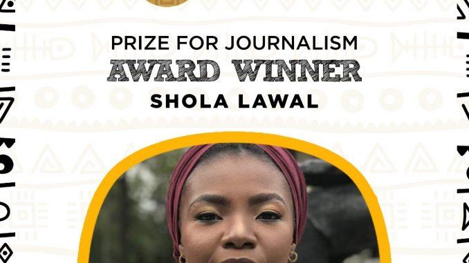 Shola lawal, Future Awards Prize for Journalism