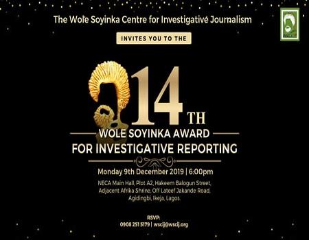 WSAIR, Wole Soyinka Awards, Investigative Reporting