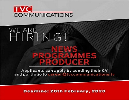 TVC news programme producer