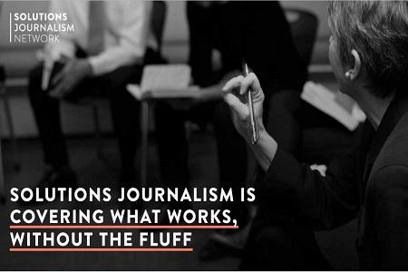 Solutions journalism webinar, SJN