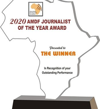 AMDF 2020 Journalist of the Year Award