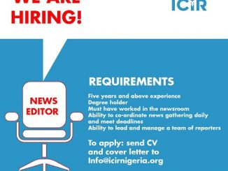VACANCY: ICIR is hiring a news editor