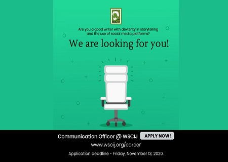 Communication officer needed at Wole Soyinka Centre (WSCIJ)